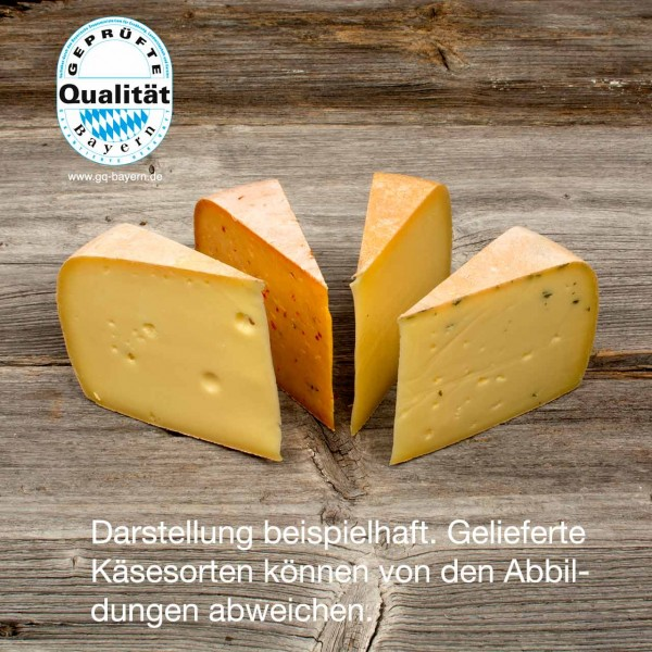 Ettaler Käsesortiment, mindestens 960g (2,12€ / 100g), geliefert in 4 Stck. zu je ca. 240g